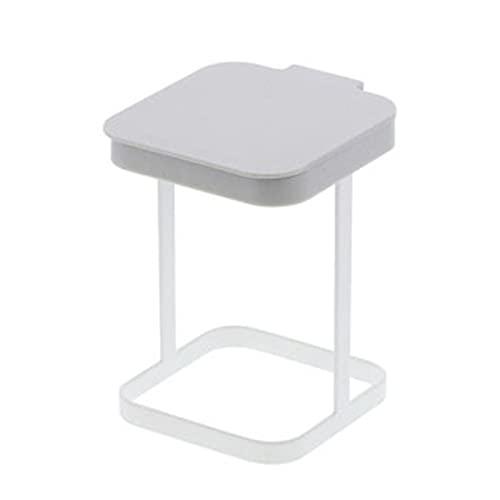 Leyeet Soporte portátil para bolsa de basura de metal para encimera, gabinete de cocina, gabinete de basura de plástico con tapa para cocina, baño, dormitorio