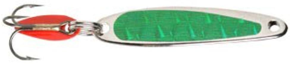 product image for Bay de Noc Lure Co. Swedish Pimples Size: 5 (1/3 oz.); Color: Prism Green (ZG)