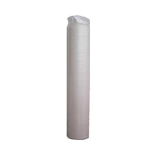 Base Aislante FOAM7 - BASIC WHITE 2.0 2mm Rollo:20m2. Foam + Film antihumedad para insonorización, Resistente y Ecológico. Apta Para Tarima Flotante y Suelo laminado. Nº1 en Ventas en España