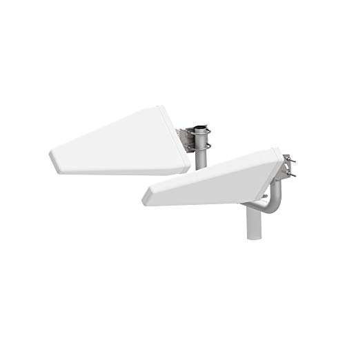 Router Antenne Set LTE Log MIMO 4G | 800 900 1800 2100 2600Mhz Leistungssteigerung bis zu 20dB | inkl.8 Adapter BNC/TS-9/FME/SMA | OUTDOOR YAGI passend für Huawei, FritzBox, A1,..[2x 5m + 8x Adapter]