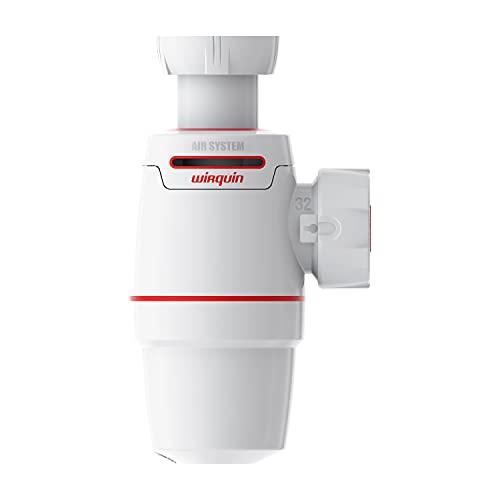 Wirquin Neo Air Siphon für Waschbecken, Durchmesser: 32 mm, auslaufsicher, Belüftungsventil