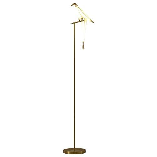 GLXLSBZ Lámpara de Mesa de Arte posmoderno Lámpara de pie de Estudio para Sala de Estar Lámpara de pie acrílica de pájaro de grúa de Papel 1/3