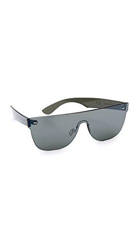 Retrosuperfuture - Gafas de sol - para hombre lente colore grigio specchiata argento