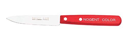 Nogent 02612T Couteau d'Office Rouge 9 cm Lot de 4