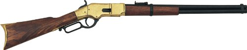 Denix 1866 Lever-Action Repeating Replica Gun (Brass) - Non-Firing Replica