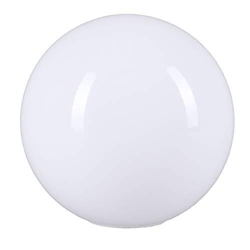 Lámpara de cristal redonda, 120 mm, bola de cristal, color blanco, repuesto de cristal, lámpara E14, forma esférica