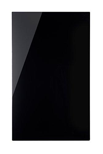 Bi-Office Memo - Pizarra de cristal, 780 x 480 mm, color negro