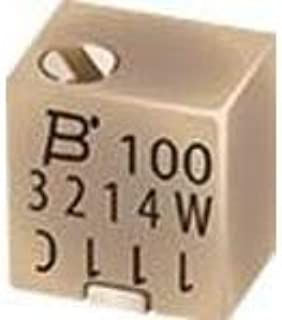 3214W-1-103E, Res Cermet Trimmer 10K Ohm 10% 0.25W(1/4W) 5(Elec) Turns 1.5mm (4.8 X 3.9 X 5.3mm) J-Hook SMD T/R (10 Items)