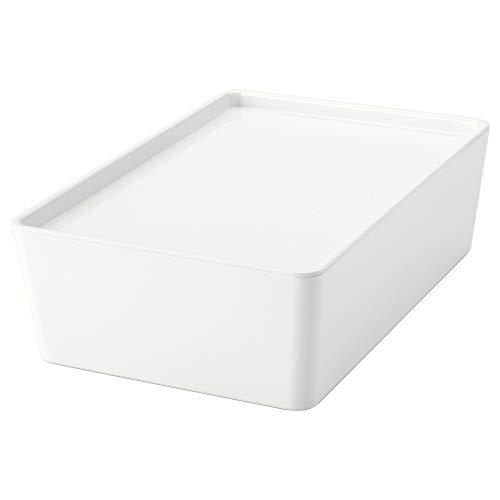 IKEA.. 202.802.07 Kuggis Box with Lid, White