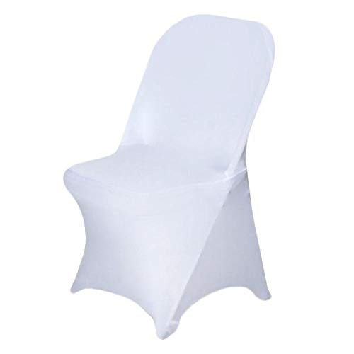 Efavormart 50pcs Stretchy Spandex Fitted Folding Chair Cover Dinning Event Slipcover for Wedding Party Banquet Catering - White