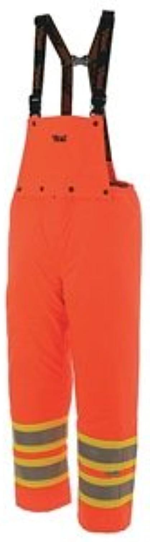 Journeyman 300D Insulated Detachable Bib Safety Pants color  Fluorescent orange, Size  XLarge