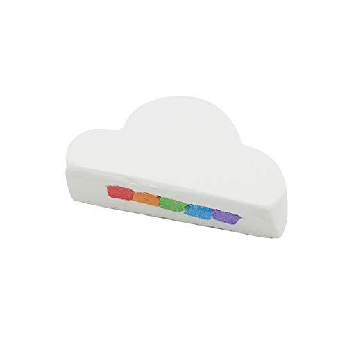 gerFogoo Natural Skin Care Cloud Rainbow Bath Salt Moisturizing Bath Ball Bubble Bom(White)