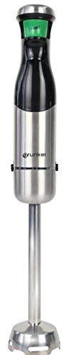Grunkel - MP-800 GAT - Batidora de mano con intensidad regulable por gatillo con indicador LED luminoso. Botón sensible, desmontable y vaso de 600 ml incluido - Negro y acero inoxidable