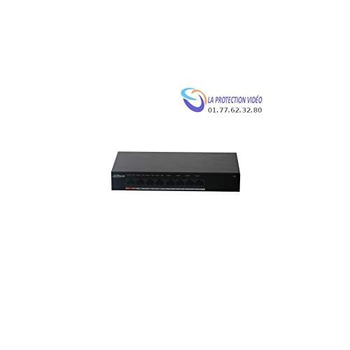 Dahua Dahua Switch 8 poorten Gigabit 4 PoE. Poort 1 60 W. Poort 2-4, 30 W, totaal budget 60 W – PFS3008-8GT-60