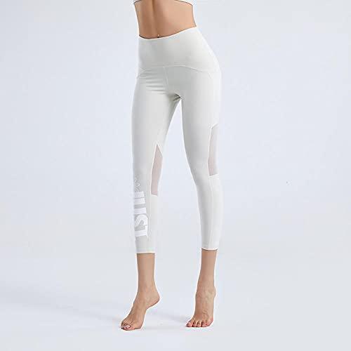 Leggings Push Up Mujer,Verano Nuevo Malla Pantalones de yoga sexy femenina alta cintura de cintura fitness Impresión rápida de secado rápido Pantalones ajustados Separos delgados delgados-luz de la l