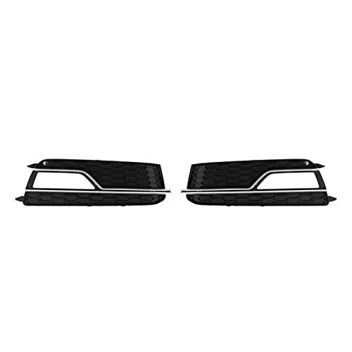 Parrilla de carreras de coches Accesorios para el coche delantero de la rejilla del parachoques delantero parachoques delantero 8T0 807 681 M / P En forma de placa de cromado negro para S5 2013-2016 P