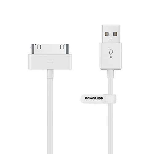 USB Ladekabel [Apple MFi Zertifiziert] 30-Pin USB Kabel 1,2m Apple Datenkabel Ladekabel Synchronisieren-Kabel für Phone 4, 4s, 3G, 3GS, iPod