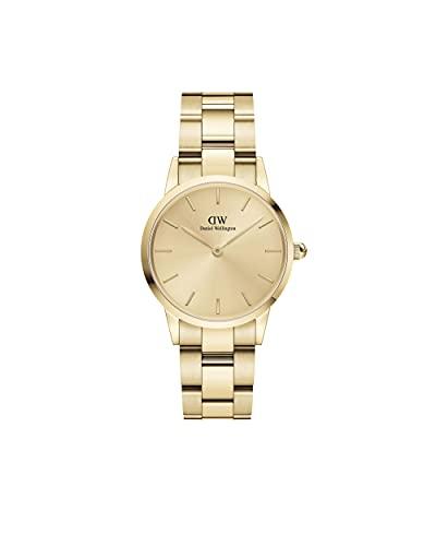 Daniel Wellington Damen-Uhren Analog Quarz One Size Gold 32019351