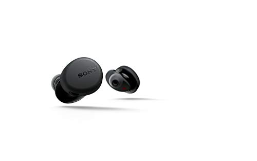 Sony WFXB700B True Wireless - Auriculares (Totalmente inalámbrico, Bluetooth, Extra Bass, Micro para llamadas Manos Libres, 18h de batería, Resistencia IPX4), Negro