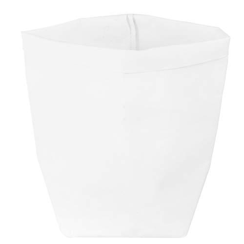 Hemoton Washable Kraft Paper Bag Kraft Bento Bag Foldable Flower Pot Plant Paper Fiber Flowers Pot Home Storage Bag 10x10x20cm