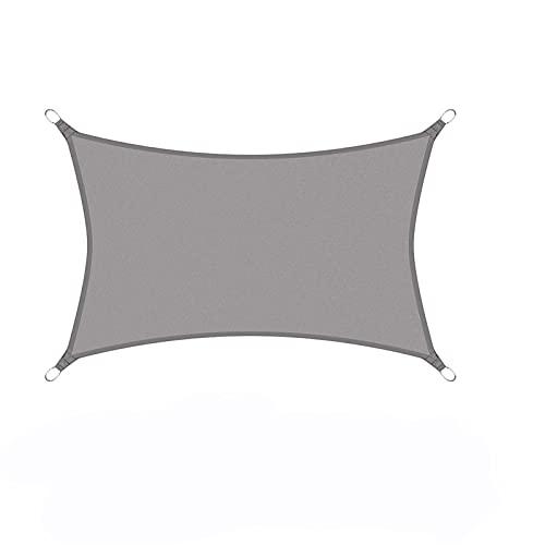 PPCERY Cubierta de pérgola Gris Cabina Poliéster a Prueba de Agua Poliéster Oxford Tela Shade Spade Rectangle (Color : 3x4m, Size : Grey)