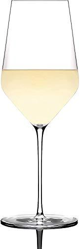 Zalto Denk'Art - Copa de vino blanco en caja de regalo   Copa de vino soplada a mano   Juego de 1, 2 o 6 unidades   Apto para lavavajillas + paño especial para limpiar vasos (1 unidad)
