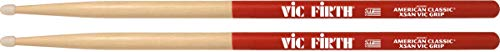 Vic Firth Bacchette American Classic, Extreme 5AN, Vic Grip, Noce Americano, Punta in Nylon