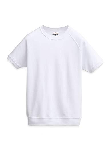 体操服 体操着 半袖 クォーターパンツ SunnyHug 男の子 女の子 兼用 綿高混スムース 吸汗速乾 スクール キッズ 幼稚園 小学生 中学生 (120(身長115~125、参考年齢6~7歳), 半袖)