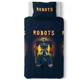LINGE USINE Housse de Couette 140 X 200 cm +1 Taie Le Robot Robby
