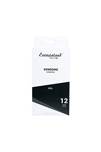 Extasialand 12er XXL Marken-Kondome glatt & transparent – Sex Markenprodukte XXL Condome im Spar Abo