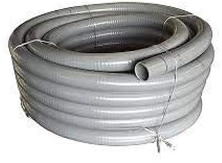 20 mm Aussendurchmesser Teichschlauch f/ür Schwimmbad 25 Meter L/änge Quarzflex Klebeschlauch Teich Made in Europa Poolflex Pool Farbe grau