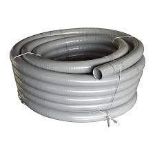 well2wellness® PVC Flexschlauch 63mm / PVC Klebeschlauch 63mm für Pool + Teich, 5m Rolle