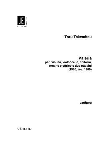 Valeria für Violine, Violoncello, Gitarre, elektrische Orgel und 2 Piccoloflöt