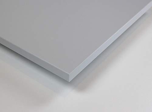 MySpiegel.de Tischplatte Holz Zuschnitt nach Maß Beschichtete Holzdekorplatte (40 x 40 cm, Hellgrau)