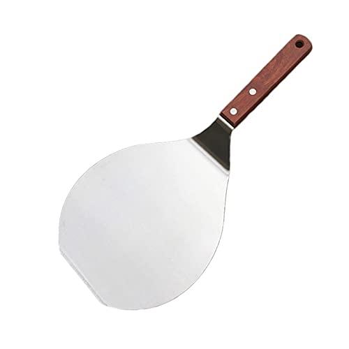 Apricot blossom Pala de acero inoxidable antiadherente para repostería de cocina, espátula redonda para pizza, herramienta para hornear, herramienta para hornear (color: plata)