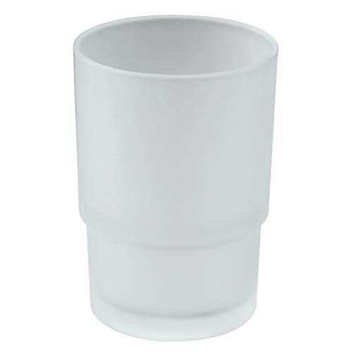 Bathroom Rinsing Cup, Angle Simple Frosted Glass Tumbler Cup, Toothbrush and Toothpaste Holder Drinking Glasses Glassware