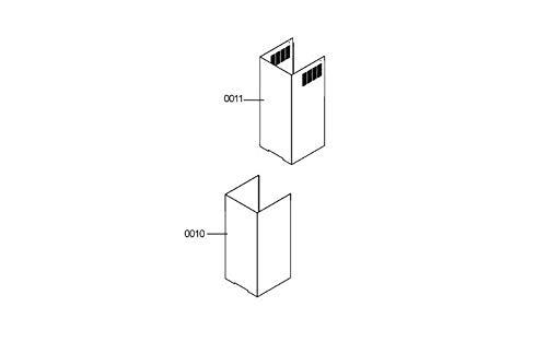 Kamin Teil Qualität REP 0011Referenz: 481253048928Für Dunstabzugshaube IKEA