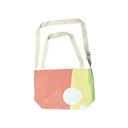 JJH Colores Abstractos Bolsa de Asas de Hombro con Cremallera, Bolsas de manijas de la Moda de la Moda de Las Mujeres Bolsas de Mensajero de Gran Capacidad 2021 Diseño de Verano