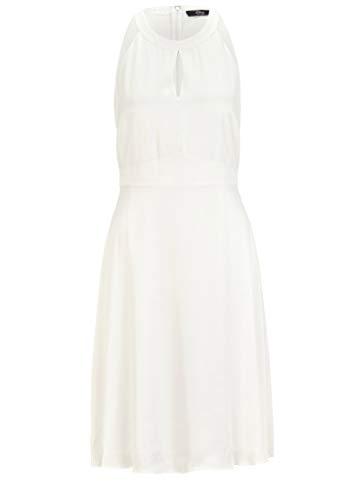 s.Oliver BLACK LABEL Damen Fließendes Kleid aus Satin soft white 44