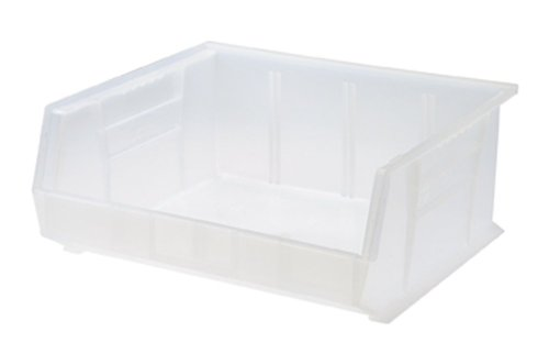 Quantum Storage Systems QUS250CL Quantum QUS250 Plastic Storage Stacking Ultra Bin, 14-Inch by 16-Inch by 7-Inch, Clear, Case of 6
