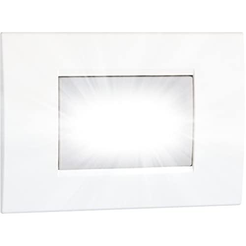 Vemer VE511200 Lampada di Emergenza Syrio da Incasso Estraibile, 2 W, 230 V, Bianco/Grigio