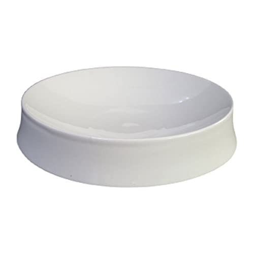 Hanpiyigcp Dinner Plates, Fashion round soup plate cold dish plate hotel restaurant household kitchen tableware (Color : B)