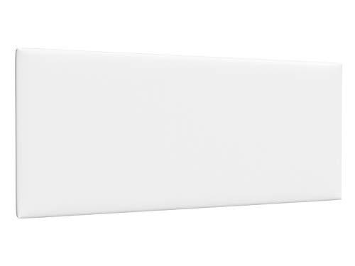LA WEB DEL COLCHON - Cabecero tapizado Paros para Cama de 180 (190 x 70 cms) Blanco Polipiel | Cama Juvenil | Cama Matrimonio | Cabezal Cama |