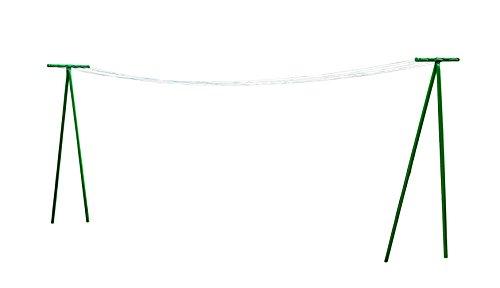 Metaltex 40769410080 Séchoir de Jardin en T + Corde à Linge-Garden, Métal, Vert, Hauteur 2,1 cm