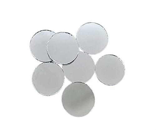 25pcs de Plata de Cristal Redondo Espejo de Pegamento En Cabujón de Atrapasueños Decoración de Bordado a Mano Orfebrería de Luneville Tambor Indio de la Shisha Boho 10mm