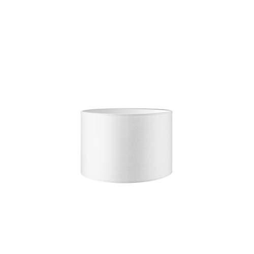 Lampenschirm rund   Bling   Stofflampenschirm   Textilschirm   Baumwolleschirm   Für E27 Fassung   Durchmesser 30cm Höhe 20cm   Rein Weiß   Für alle Innenraumen IP20   Ohne Leuchtmittel