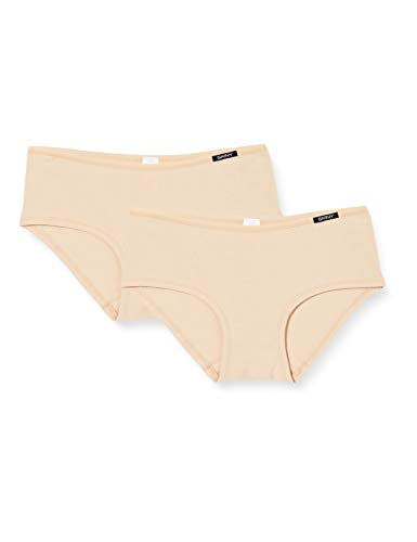 Skiny Damen Advantage Cotton Panty,  2er Pack, Elfenbein (Skin 9622), 36
