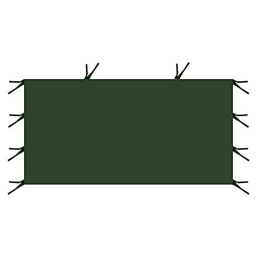 Paneles laterales de toldo de 3 m x 2 m, paneles laterales de repuesto para tienda de campaña, panel lateral portátil reutilizable para carpa de campaña, 1 pieza, verde