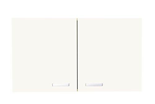 aaboaa Carpi Oberschrank, Melaminharzbeschichtete Spanplatte, Hochdichte Faserplatte, Stahl, Guß, Kunststoffkante, Creme, 80 x 35 x 57 cm