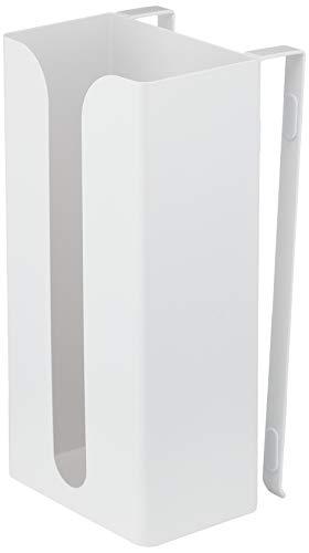 山崎実業ポリ袋&キッチンペーパーホルダーホワイト約W13×D11.5×H26cmプレート7982